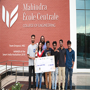 Mahindra Ecole Centrale team wins the Smart India Hackathon(SIH) 2019