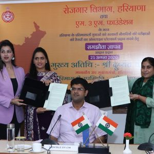 Haryana Government inks MoU with M3M Foundation to Facilitate Students' Online Preparation for Government Jobs
