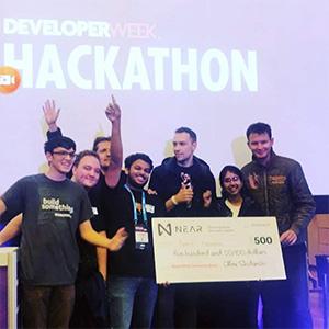 SRM AP students win laurels in Developer Week Hackathon