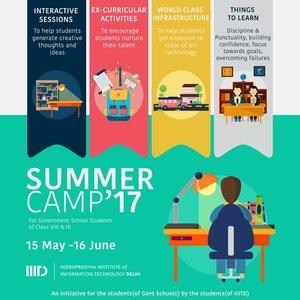 Manish Sisodia inaugurates IIIT - Delhi's Summer Camp for School Students
