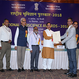 IITGN Faculty Prof Vikrant Jain awarded National Geoscience Award 2018 for Applied Geosciences
