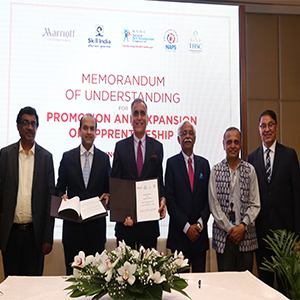 Tourism & Skill Council and Marriott India sign MoU, with operational support from NSDC to promote Apprenticeship in India
