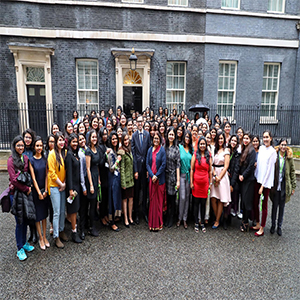 P.M. Rt Hon Theresa May MP felicitates 104 Indian Women STEM Scholars in UK
