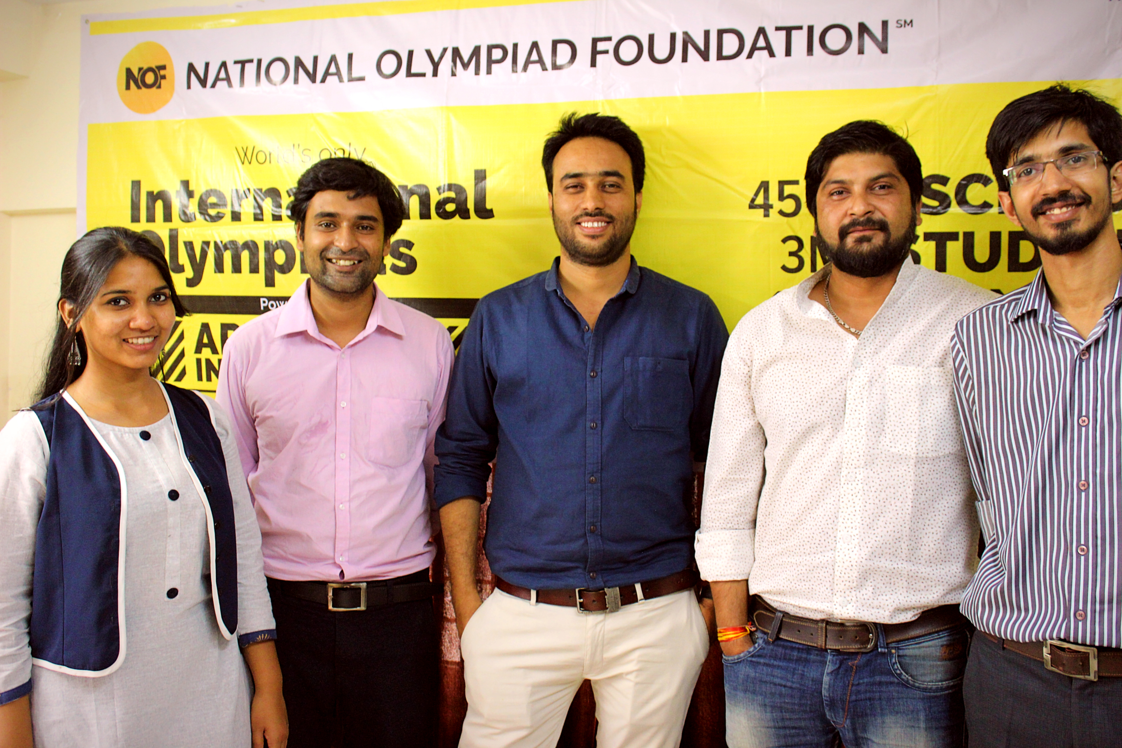 Pic from left to right - Anjali Bansiwal, Atul Dubey, Amit Patel, Sandesh Vyas, Sachin Yadav