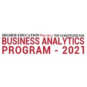 Top 10 Institutes For Business Analytics Program - 2021