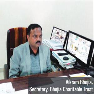 Mr. Vikram Bhojia,Secretary of the trust