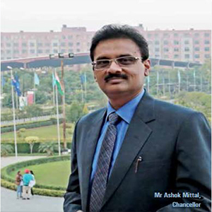 Mr Ashok Mittal,Chancellor