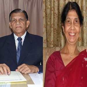 Dr. R.K. Mishra and Dr. Gita Mishra,Chairman and President