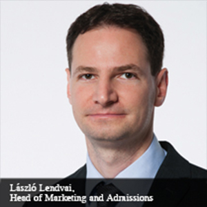 László Lendvai,,Head of Marketing and Admissions