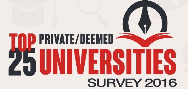 Top 25 Private/Deemed University Survey 2016