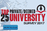 Top PRIVATE/DEEMED 25 University survey 2017