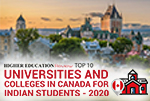 Top 10 Universities And Colleges In Canada For Indian Students 2020